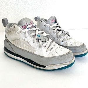 Nike Air Jordan Flight White Teal Hi Top Sneakers